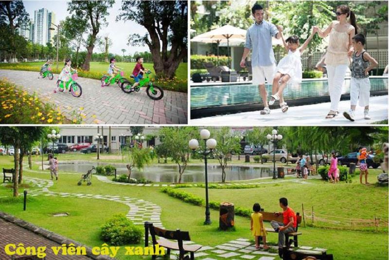 Công viên cây xanh dự án Khu Đô Thị Đình Trám Sen Hồ - Bắc Giang
