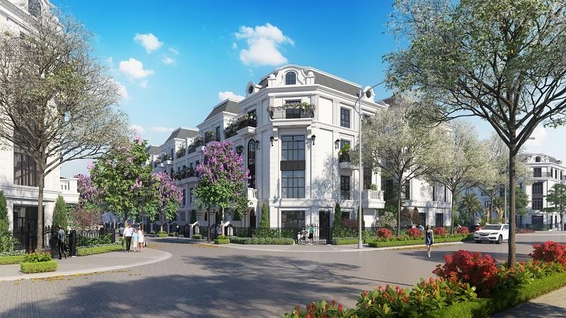 Đường nội khu dự án Elegant Park Villa Thạch Bàn - MIK Group