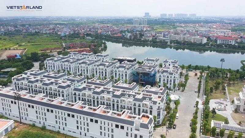 Flycam thực tế dự án Elegant Park Villa Thạch Bàn - Long Biên