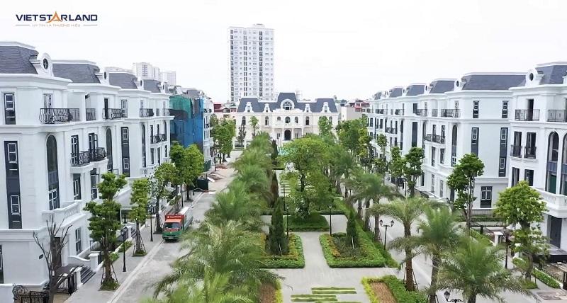 Flycam thực tế 2 dự án Elegant Park Villa Thạch Bàn - Long Biên