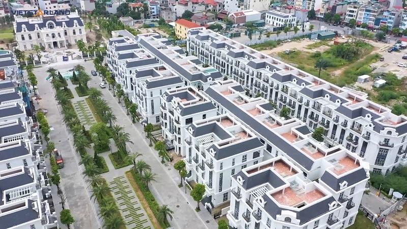 Flycam thực tế 3 dự án Elegant Park Villa Thạch Bàn - Long Biên