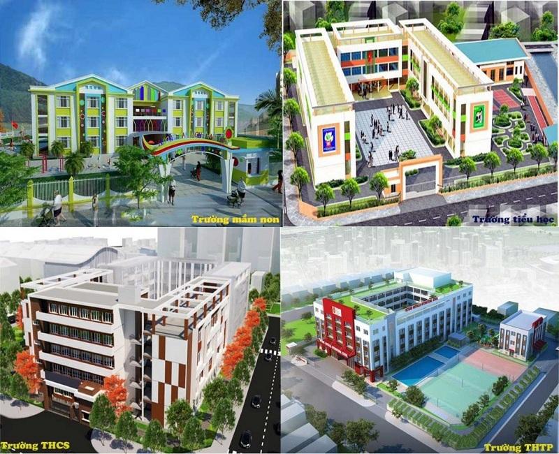 Hệ thống trường học dự án Khu Đô Thị Đình Trám Sen Hồ - Bắc Giang