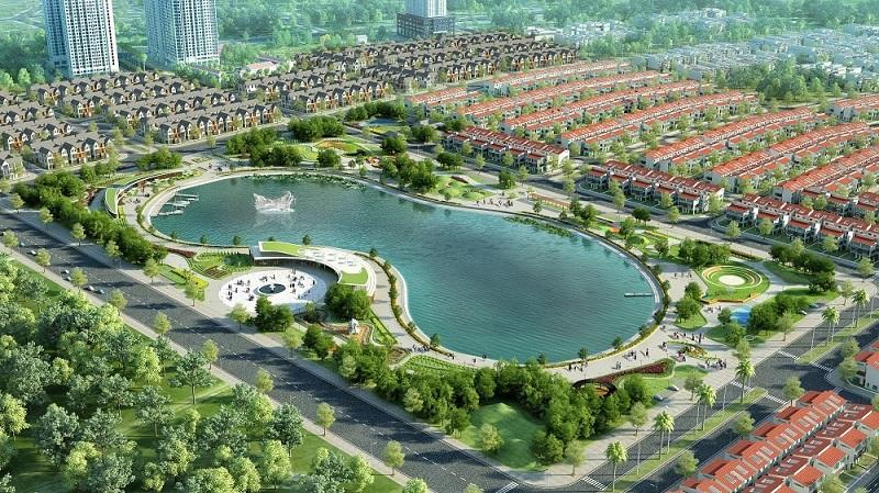 Hồ điều hòa dự án Khu Đô Thị Đình Trám Sen Hồ - Bắc Giang