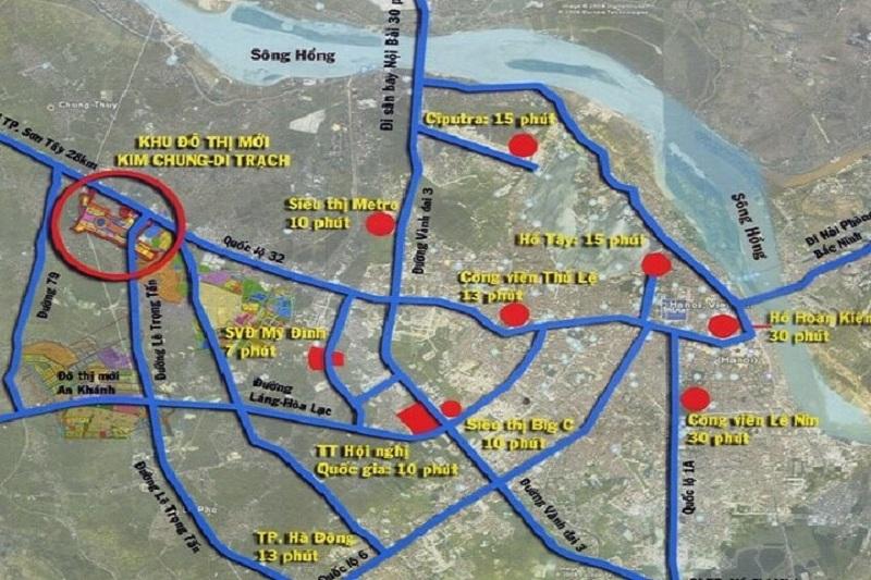 Kết nối dự án Hinode Garden City Kim Chung - Di Trạch - Hoài Đức