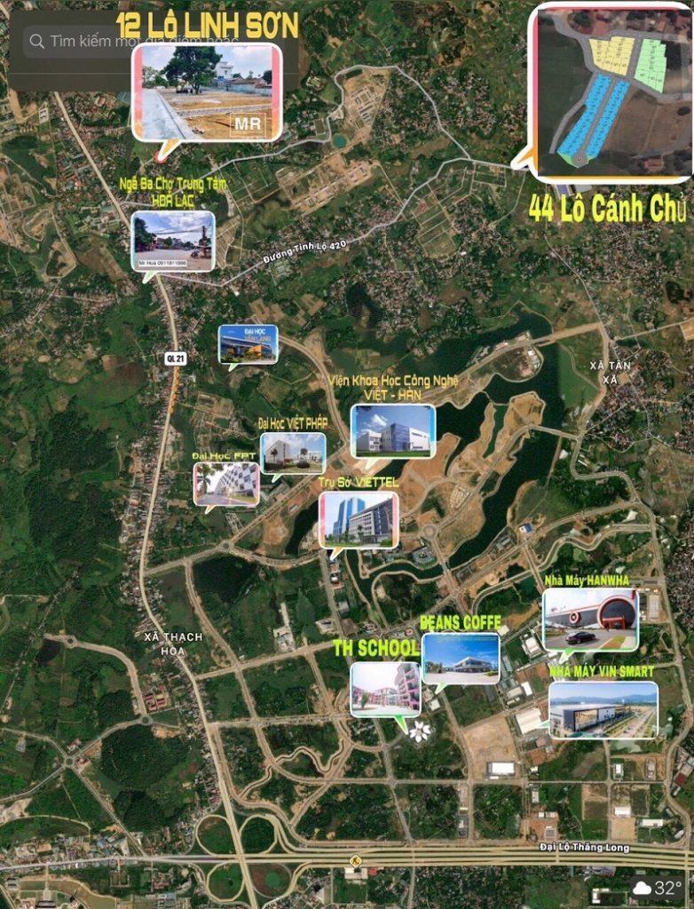 Kết nối tiện ích khu dân cư 44 lô Cánh Chủ - Bình Yên - Hòa Lạc