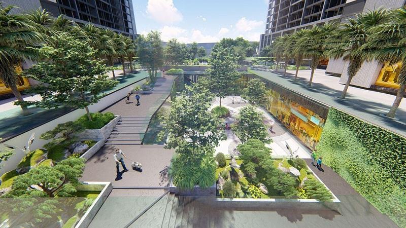 Không gian xanh dự án Hinode Garden City Kim Chung - Di Trạch - Hoài Đức