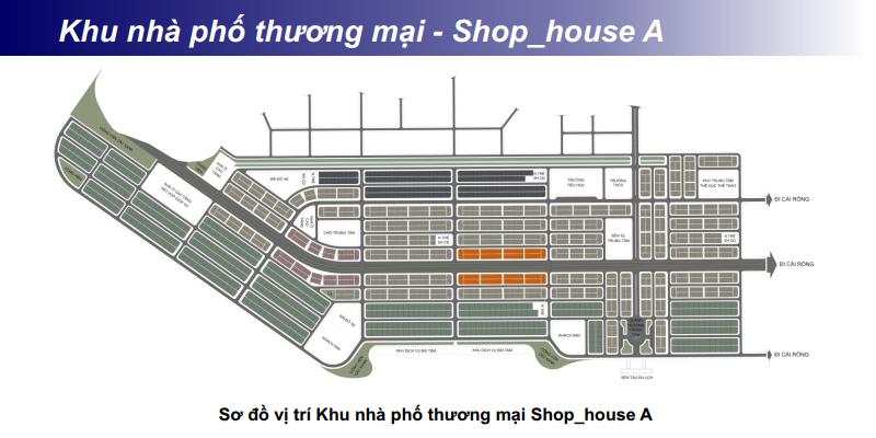 Khu Shophouse - Nhà phố thương mại A khu đô thị Phương Đông