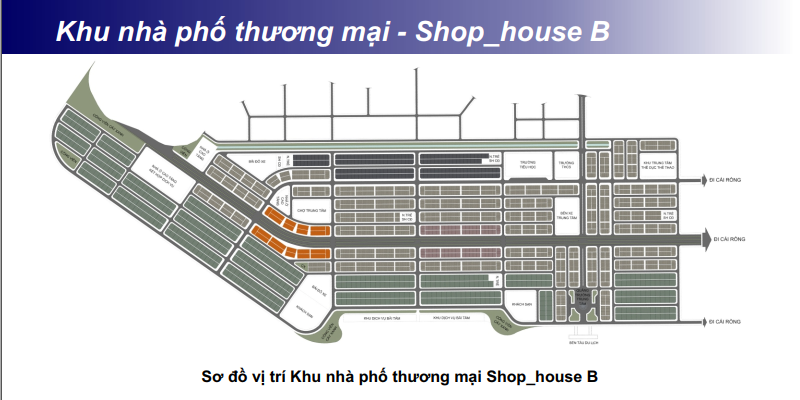 Khu Shophouse - Nhà phố thương mại B khu đô thị Phương Đông