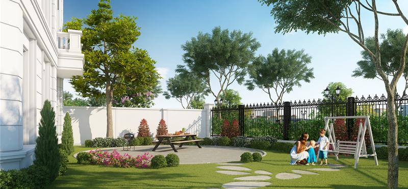 Khuôn viên Elegant Park Villa Thạch Bàn - MIK Group