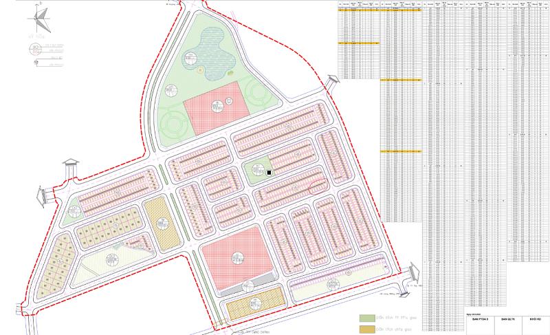 Mặt bằng phân lô dự án TNR Stars Thắng City - Bắc Giang