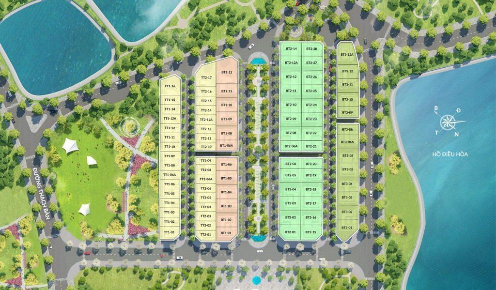 Mặt bằng phân lô Elegant Park Villa Thạch Bàn - MIK Group