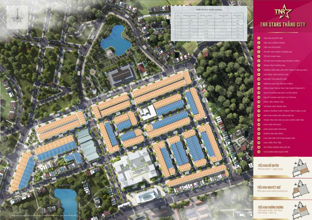 Mặt bằng tổng thể dự án TNR Stars Thắng City - Bắc Giang