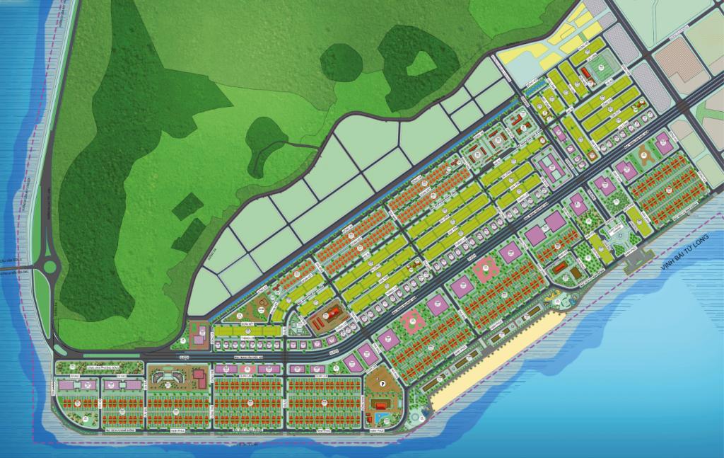 Mặt bằng tổng thể khu đô thị Phương Đông