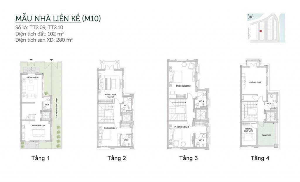 Mẫu liền kề M10 Elegant Park Villa Thạch Bàn - MIK Group