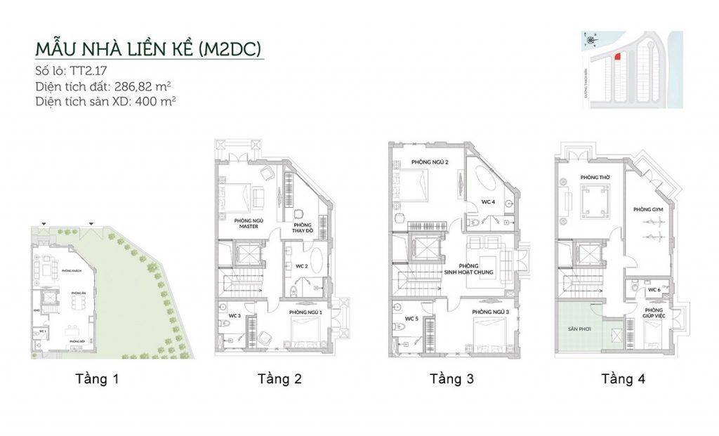 Mẫu liền kề M2DC Elegant Park Villa Thạch Bàn - MIK Group