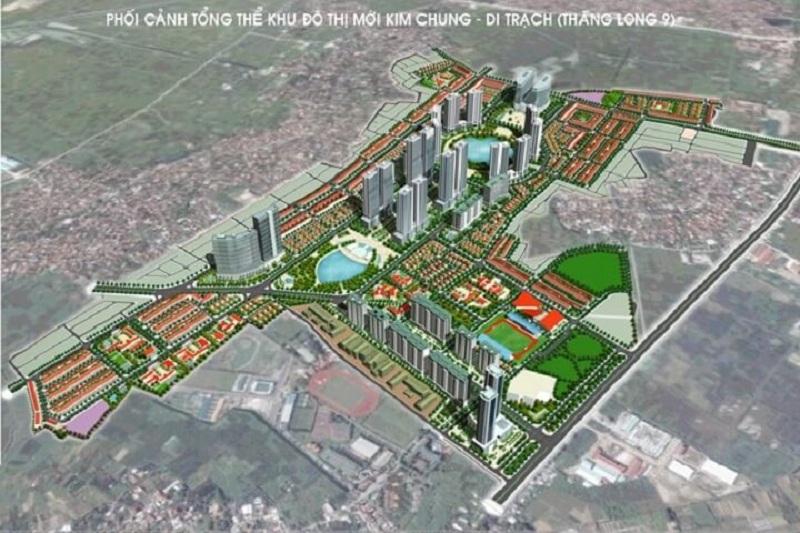 Phối cảnh 3 dự án Hinode Garden City Kim Chung - Di Trạch - Hoài Đức