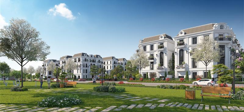 Phối cảnh 4 Elegant Park Villa Thạch Bàn - MIK Group