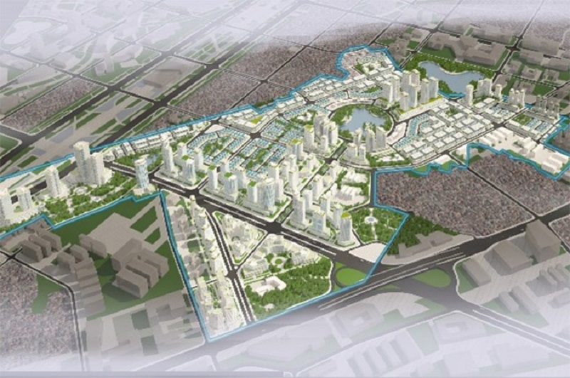 Phối cảnh dự án Hinode Garden City Kim Chung - Di Trạch - Hoài Đức