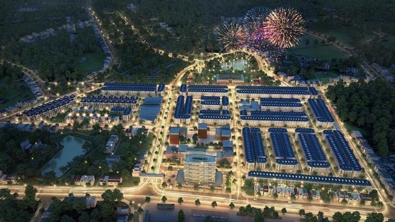 Phối cảnh dự án TNR Stars Thắng City - Bắc Giang về đêm