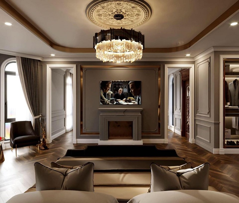 Phối cảnh 1 nội thất Elegant Park Villa Thạch Bàn - MIK Group