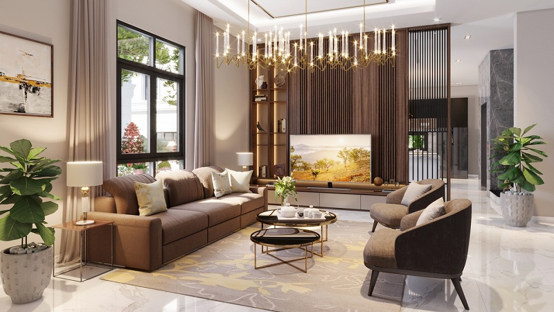 Phối cảnh nội thất Elegant Park Villa Thạch Bàn - MIK Group