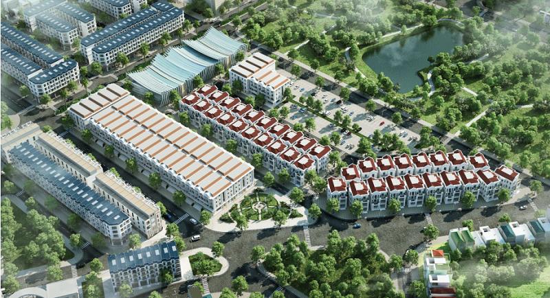 Phối cảnh tiểu khu Nguyệt Quế dự án TNR Stars Thắng City - Bắc Giang