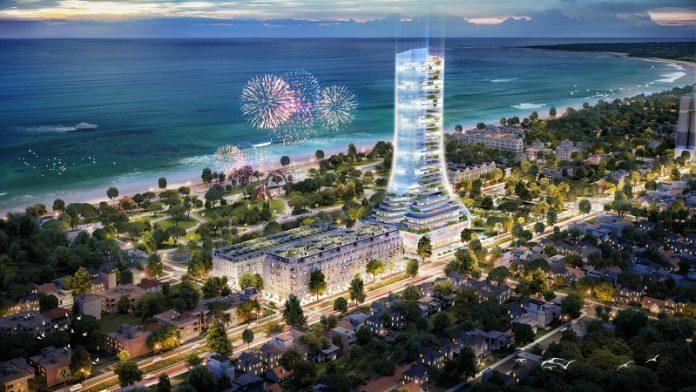 Phối cảnh 1 dự án TNR Grand Palace Tuy Hòa - Phú Yên