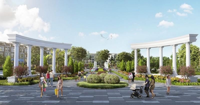 Quảng trường dự án TNR Stars Thắng City - Bắc Giang