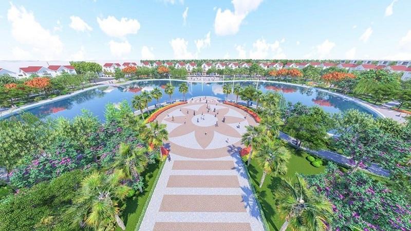 Quảng trường trung tâm dự án Khu Đô Thị Đình Trám Sen Hồ - Bắc Giang