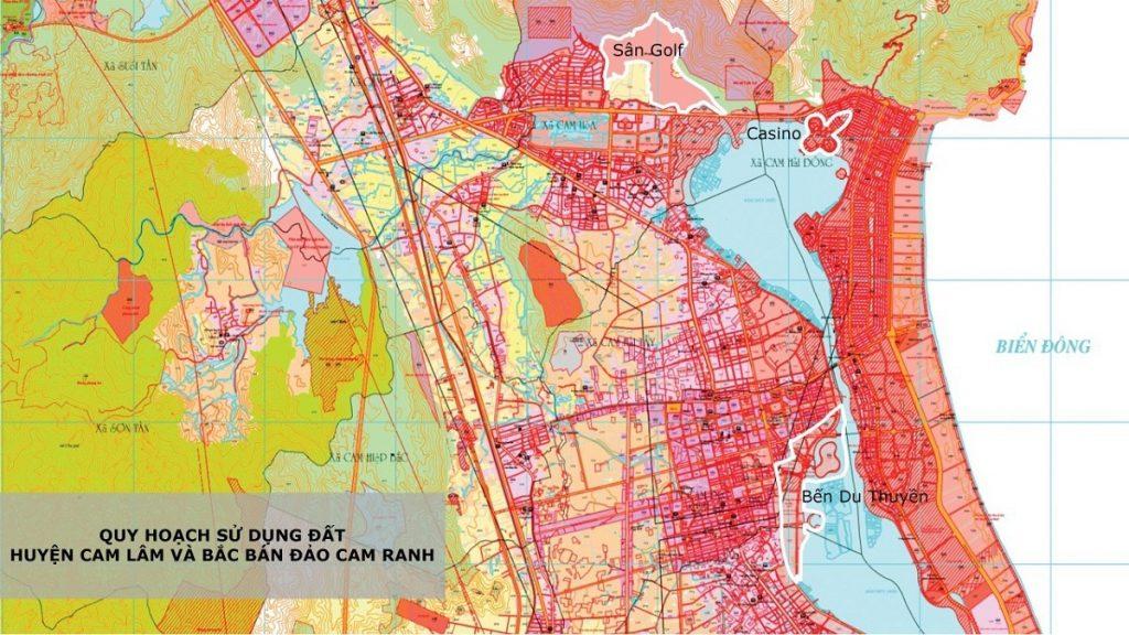 Bản quy hoạch sử dụng đất Cam Lâm - Khánh Hòa