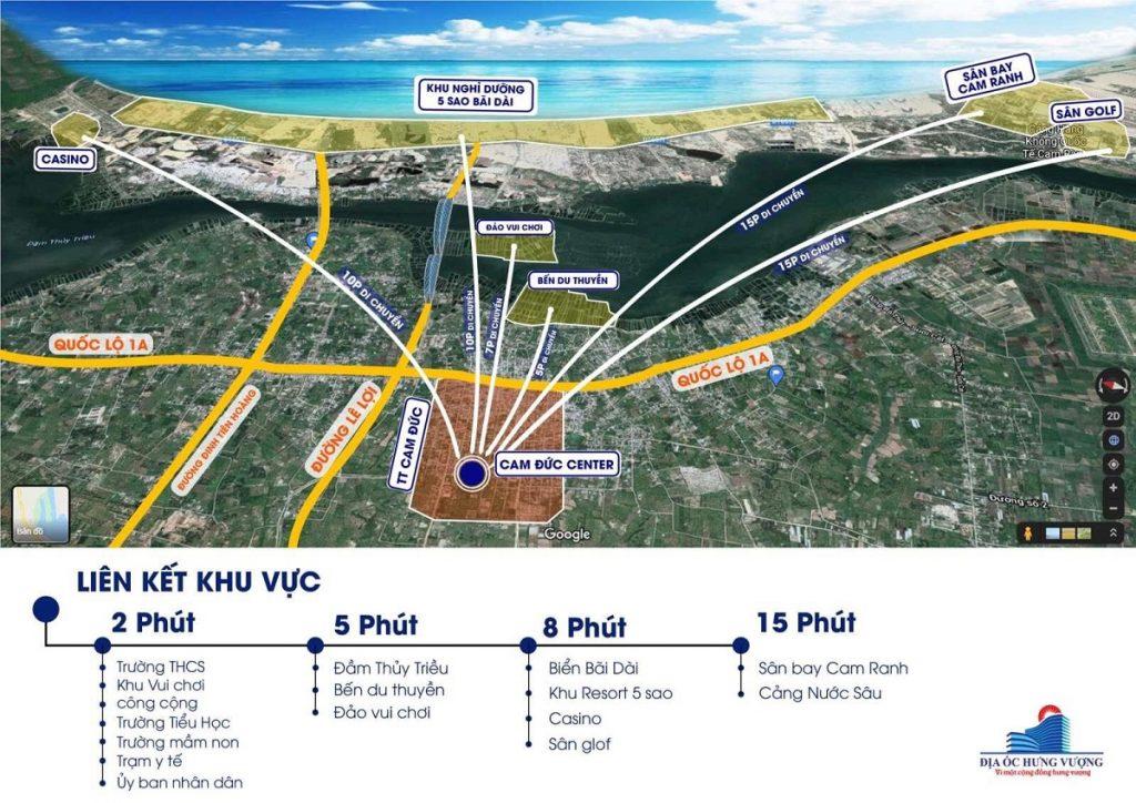 Vị trí dự án Đất Nền Cam Đức Center - Khánh Hòa