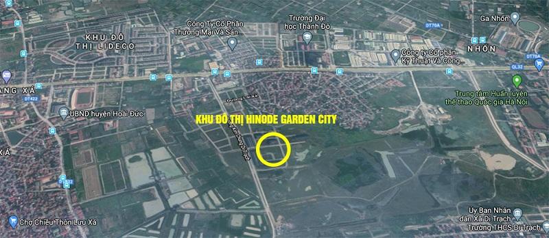 Vị trí dự án Hinode Garden City Kim Chung - Di Trạch - Hoài Đức