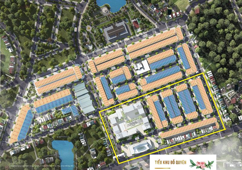 Vị trí tiểu khu Đỗ Quyên trong dự án TNR Stars Thắng City - Bắc Giang