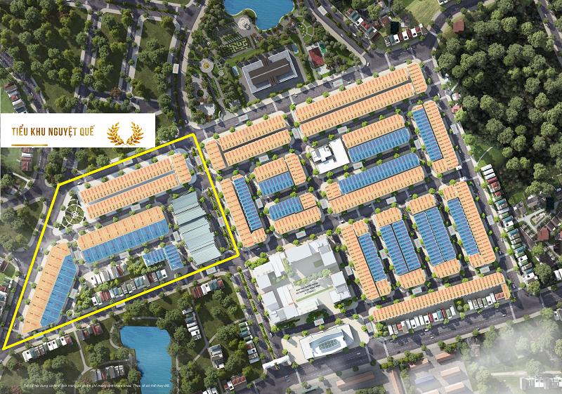 Vị trí tiểu khu Nguyệt Quế trong dự án TNR Stars Thắng City - Bắc Giang