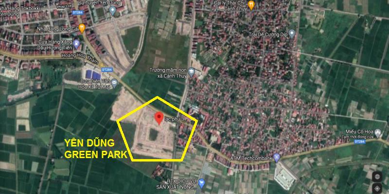 Vị trí Yên Dũng Green Park - Thị trấn Neo - Bắc Giang