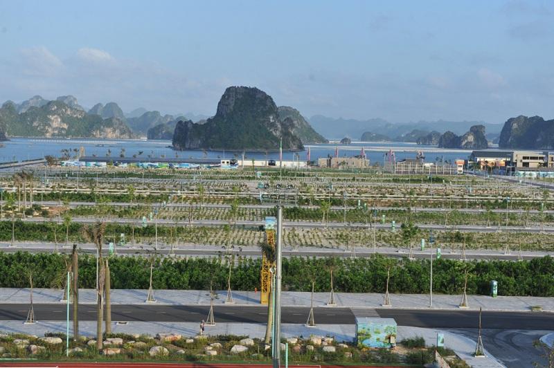 View vịnh Bái Tử Long từ khu đô thị Phương Đông
