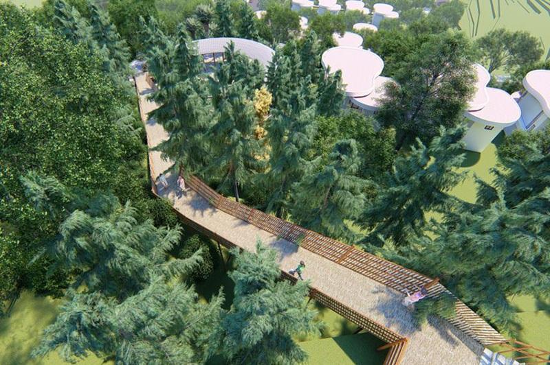 Con đường ánh sáng Ivory Villas & Resort Lương Sơn - Hòa Bình