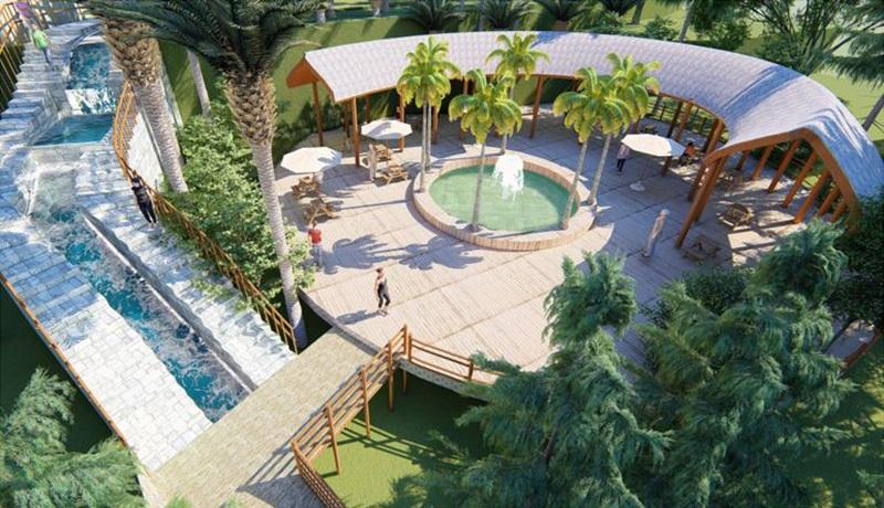 Con đường nước Ivory Villas & Resort Lương Sơn - Hòa Bình