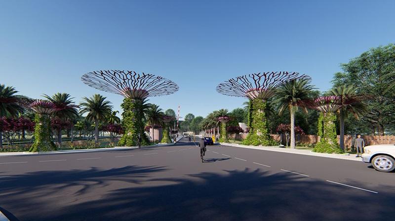 Cổng vào Ivory Villas & Resort Lương Sơn - Hòa Bình