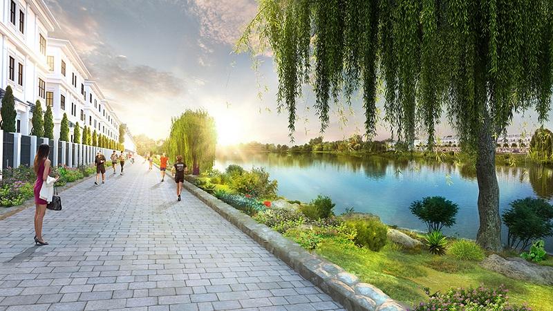 Đường ven hồ Hanaka Paris Ocean Park Từ Sơn - Bắc Ninh