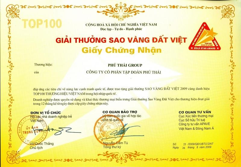 Sao Vàng Đất Việt tập đoàn Phú Thái