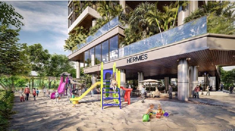 Khu vui chơi trẻ em dự án Sunshine Green Iconic Long Biên