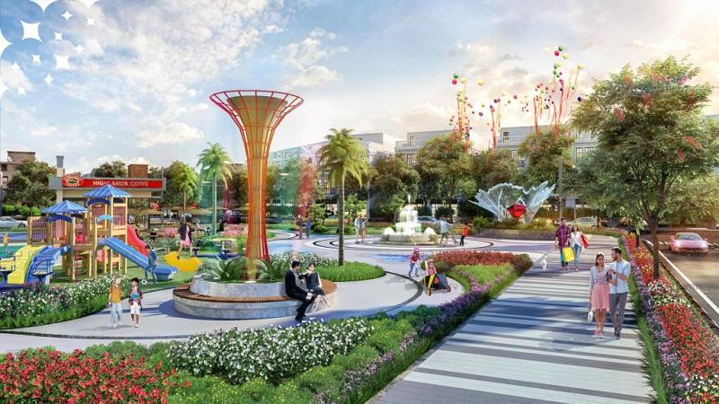 Khuôn viên xanh dự án chung cư The Ruby Hạ Long MBLand