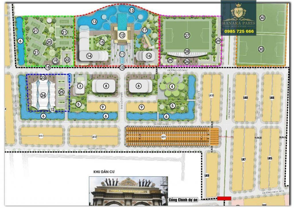 Mặt bằng LK11 giai đoạn 1 dự án Hanaka Paris Ocean Park Từ Sơn - Bắc Ninh ra hàng tháng 11/2020