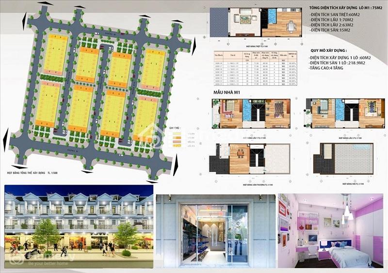 Mẫu nhà liền kề M1 dự án DTA Garden House VSIP Bắc Ninh