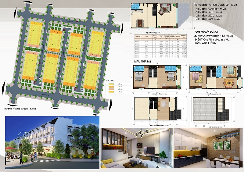 Mẫu nhà liền kề M2 dự án DTA Garden House VSIP Bắc Ninh