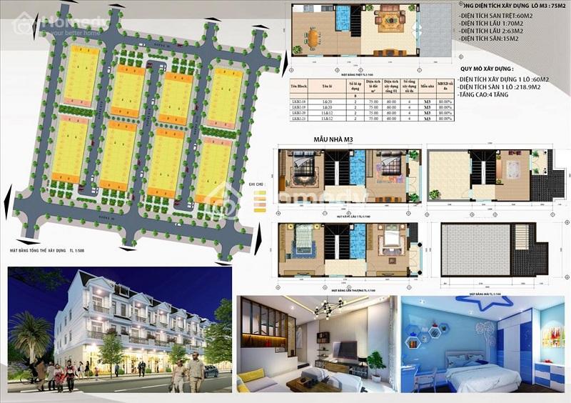 Mẫu nhà liền kề M3 dự án DTA Garden House VSIP Bắc Ninh