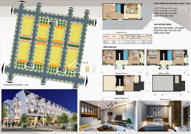 Mẫu nhà liền kề M4 dự án DTA Garden House VSIP Bắc Ninh