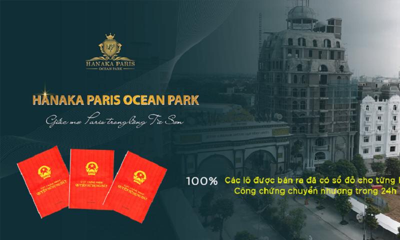 Pháp lý dự án Hanaka Paris Ocean Park Từ Sơn - Bắc Ninh