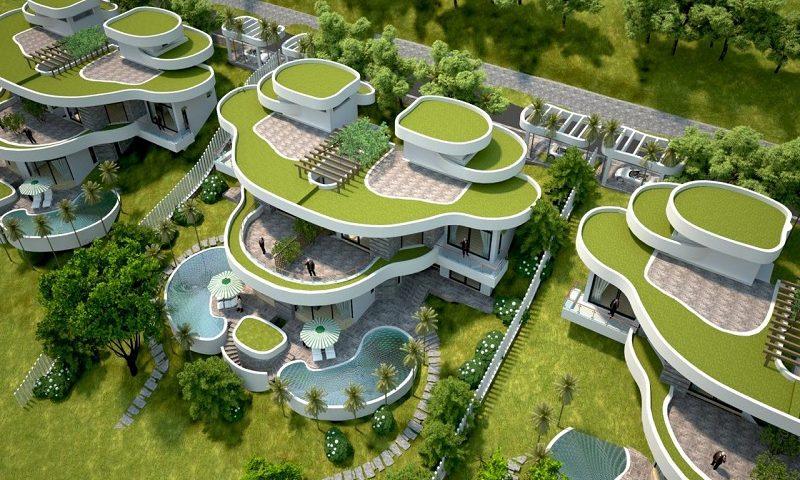 Phối cảnh 2 biệt thự Ivory Villas & Resort Lương Sơn - Hòa Bình